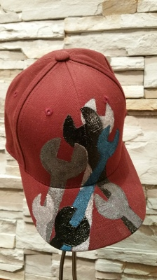 Custom wrench hat for Lorne Cardinal