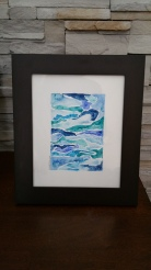 """Fresh Gale"" Water media on 8""x10"" watercolour paper SOLD"