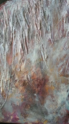 "Somnus (detail) 30""x30"" acrylic & mixed media on 1.5"" gallery canvas"