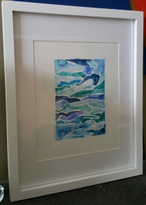 "Water media on 8""x10"" watercolour paper Frame 12""x15"" (outer edge)"