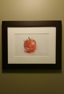 """Gala"" water media & ink on paper 13.75""x16.75"" outer edge of frame $200 framed (plus s&h)"